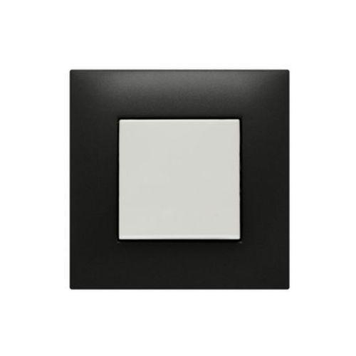 Kos dante ramka 1x tworzywo lakierowane czarny 450981 (5907617119376)