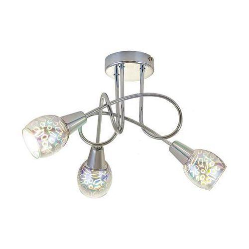Plafon lampa sufitowa Rabalux Porto 3x40W E14 chrom 6009, kolor Srebrny