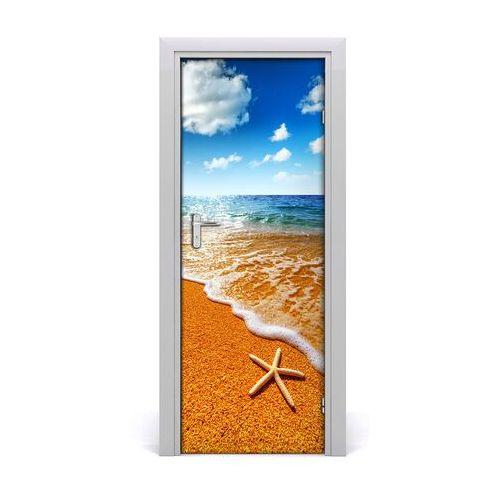 Naklejka drzwi samoprzylepna rozgwiazda na plaży marki Tulup.pl