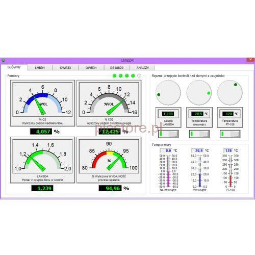 Lmbd4plc (nowy lmbd3) analizator spalin do kotłów olejowych, gazowych, na pellety, węgiel, obsługiwany przez internet , sterownik plc od producenta Plc2011