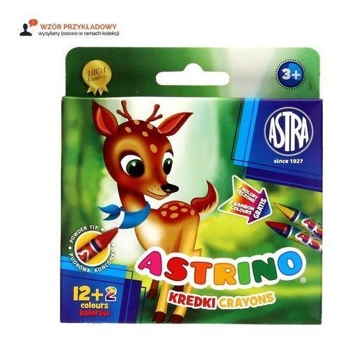 Kredki świecowe 12+2 astrino marki Astra