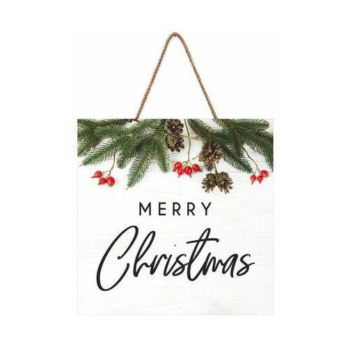 Knor Tabliczka świąteczna merry christmas 30 x 30 cm (5901554536630)