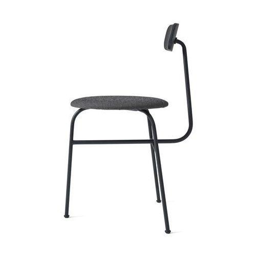 Krzesło Afteroom 3 tapicerowane czarne z czarnym obiciem, kolor czarny