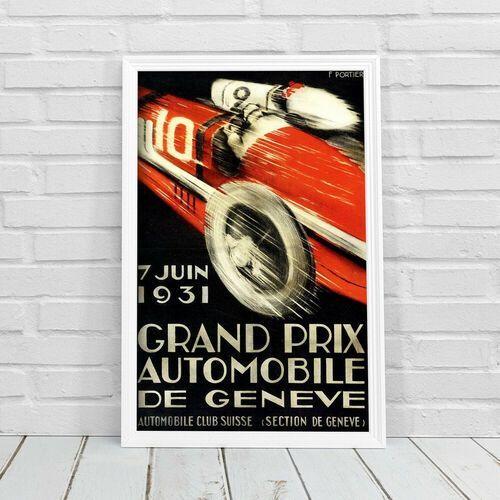 Plakat w stylu vintage Plakat w stylu vintage Grand Prix Automobile de Geneve