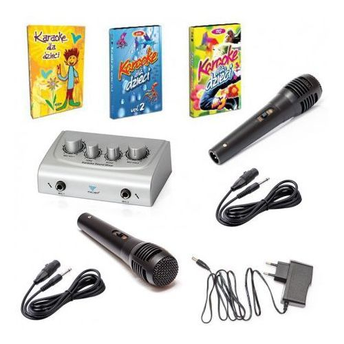 Ryszard music Karaoke dla dzieci 3 dvd box + mikser karaoke do telewizora