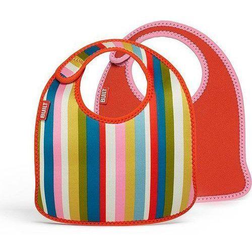 Śliniaki dla dzieci Mess Mate 2 szt. Pink Stripe, BBY-MMBB-BPS