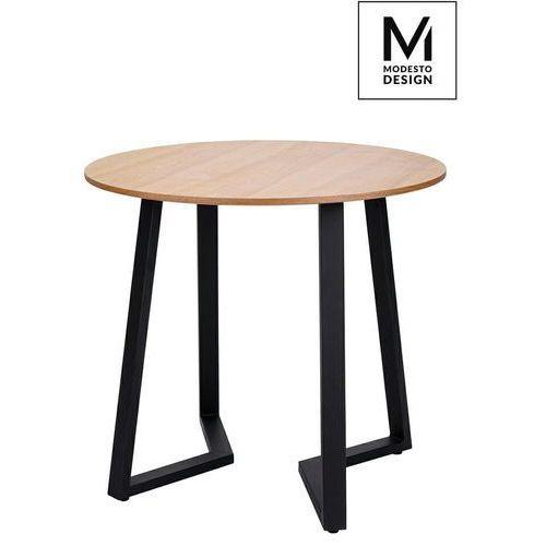 Modesto design Modesto stół tavolo fi 80 dąb - blat mdf, podstawa metalowa (5900168817296)