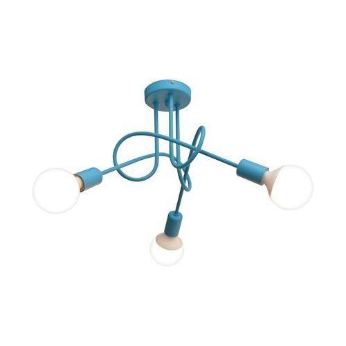 Lampa sufitowa OXFORD 3xE27/60W/230V niebieski