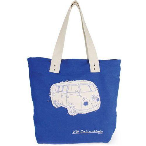 Vw collection by brisa Torba na zakupy zamykana na zamek vw t1 bus niebieska