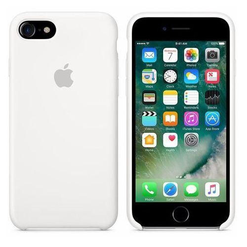 silicone case - silikonowe etui iphone 7 (biały) marki Apple