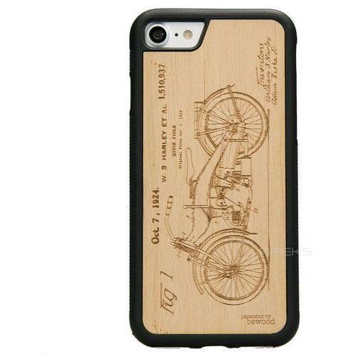 Bewood Harley Patent Olcha etui na telefon iPhone 7 / iPhone 8 - Harley Patent Olcha, kolor czarny