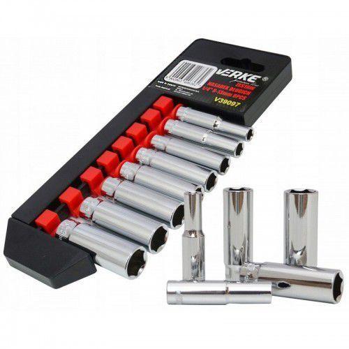 Zestaw nasadek długich 1/4″ 6-13 mm 8 el premium line marki Verke