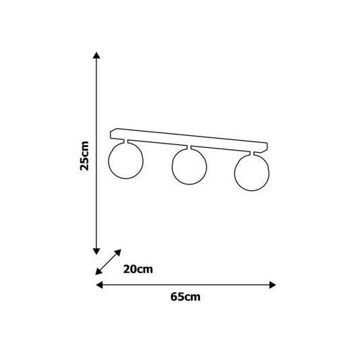 Żyrandol natynkowy SPHERE 3xE27/60W/230V, MLP8857