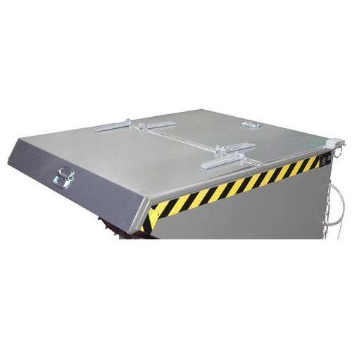 Pokrywa składana do pojemników przechylnych do wysokich obciążeń, o poj. 0,6 m³,
