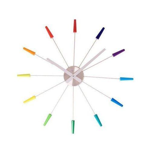 Zegar ścienny Plug Inn wielokolorowy, kolor wielokolorowy