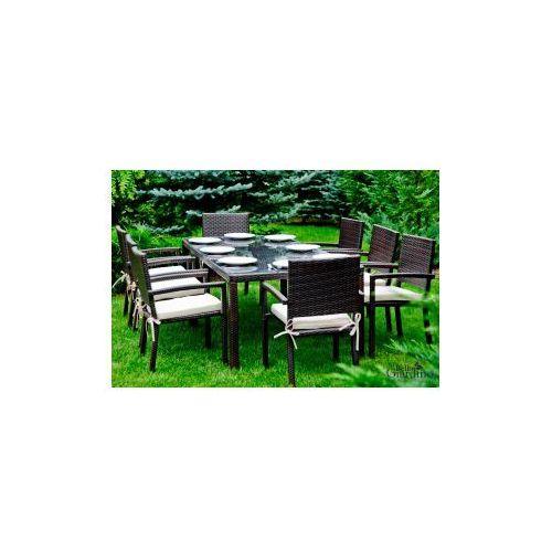 Zestaw mebli stołowych- Ombroso- ciemny brąz