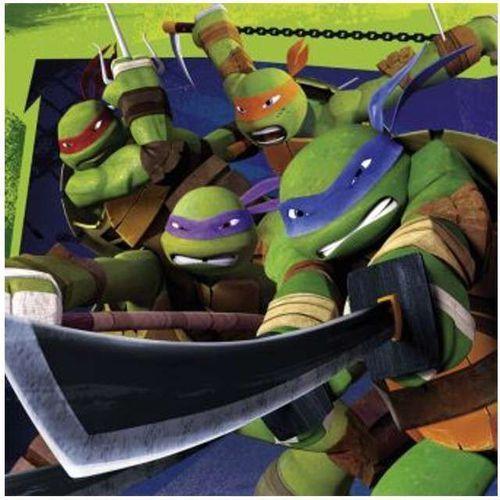 """Amscan Serwetki """"żółwie ninja"""", , 33 cm, 20 szt (4009775468844)"""