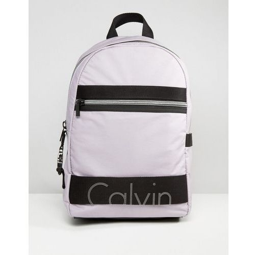 exclusive re-issue coated jersey backpack - purple marki Calvin klein