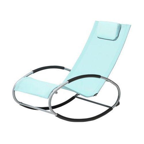 Krzesło ogrodowe miętowe tekstylne bujane CAMPO
