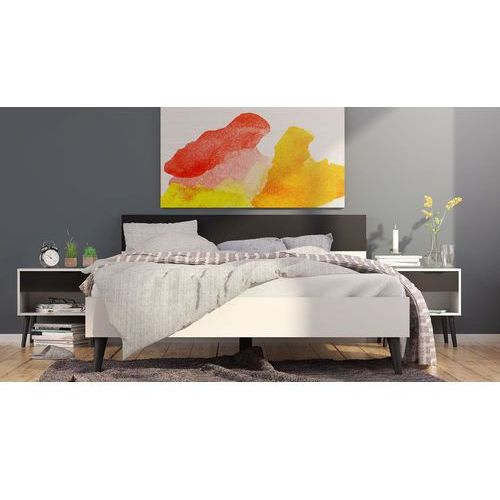 Nowoczesne łóżko Oslo 154 x 203 w stylu retro, 7537749gm