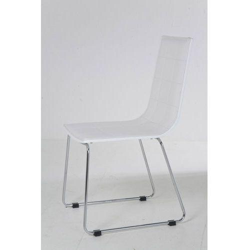 :: krzesło high fidelity white - kare design:: krzesło high fidelity white ||biały ||srebrny marki Kare design