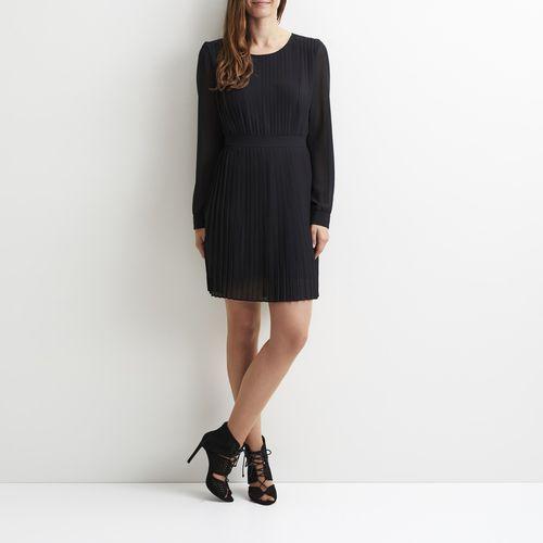 Vila Prosta, gładka sukienka, krótka, z długim rękawem