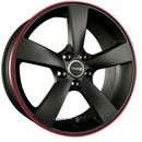 Avus racing af10 matt black red line einteilig 8.00 x 18 et 35