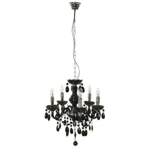 Lampa wisząca Italux Whiz L.90690/5BL świecznikowa z kryształami zwis oprawa 5x40W E14 czarna, L.90690/5BL