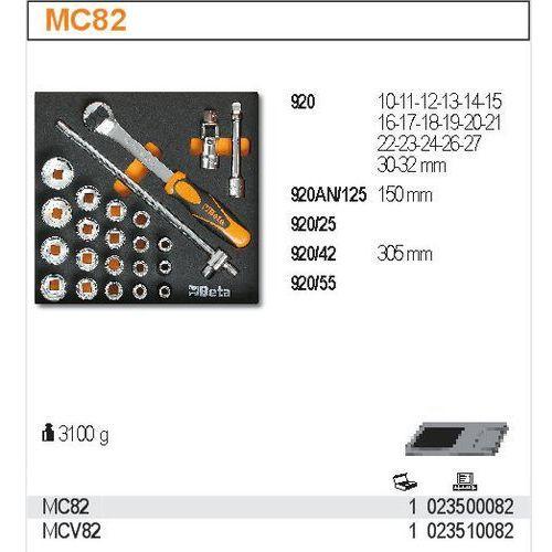 Beta Zestaw narzędzi, 23 elementy, w miękkim wkładzie profilowanym, model 2350/mc82, kategoria: zestawy narzędzi ręcznych