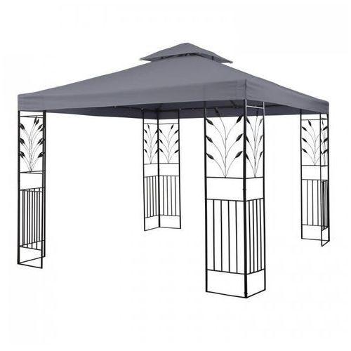 Blumfeldt odeon grey pavillon namiot imprezowy/namiot stały 3 x 3 m stal/poliester kolor ciemnoszary (4260486150316)