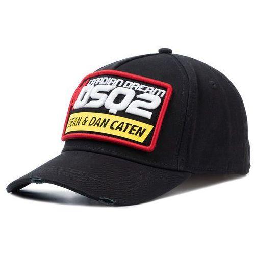 Czapka z daszkiem - patch cargo baseball caps bcm0239 05c00001 2124 black marki Dsquared2