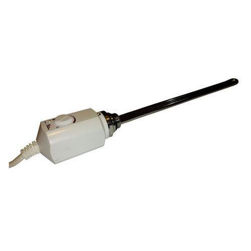 Grzałka elektryczna z termostatem – 300w, biała, zaokrąglona marki Thomson heating