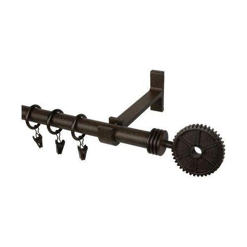 Karnisz RETRO 240 cm pojedynczy miedź 19 mm metalowy