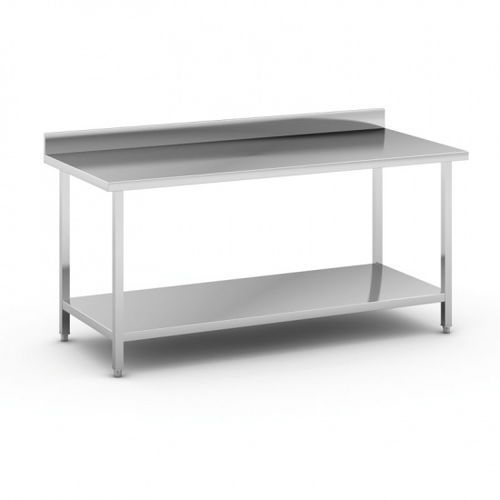 B2b partner Stół roboczy ze stali nierdzewnej z półką, 1800 x 800 x 850 mm