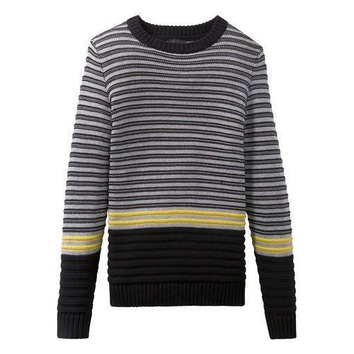 Shirt, spódnica i torebka (3 części) bonprix szary melanż - jasny miętowy z nadrukiem