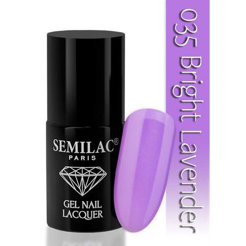 SEMILAC 7ml Diamond UV Hybrid 035 Bright Lavender Lakier hybrydowy do paznokci