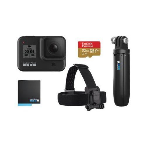Kamera sportowa GOPRO HERO8 Black + zestaw akcesoriów, CHDRB-801