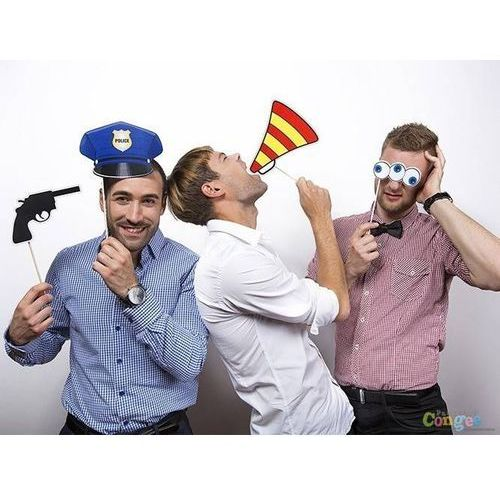 Party deco Foto rekwizyty policjant - 4 szt.