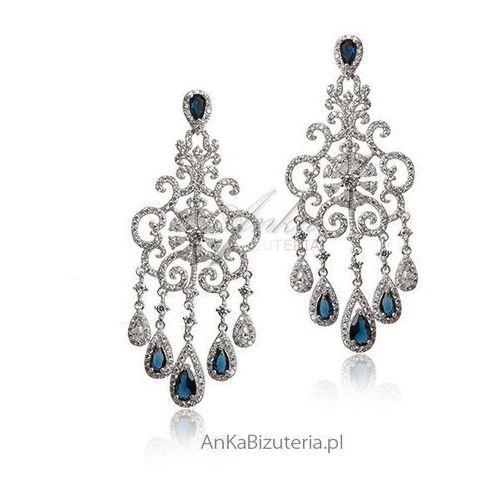 Kolczyki srebrne Śnieżynki - Piękna biżuteria Lineargent Hiszpania, kolor szary