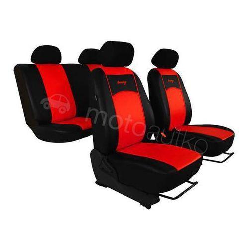 Pokrowce samochodowe uniwersalne eko-skóra czerwone alfa romeo 147 2000-2010 - czerwony marki Pok-ter
