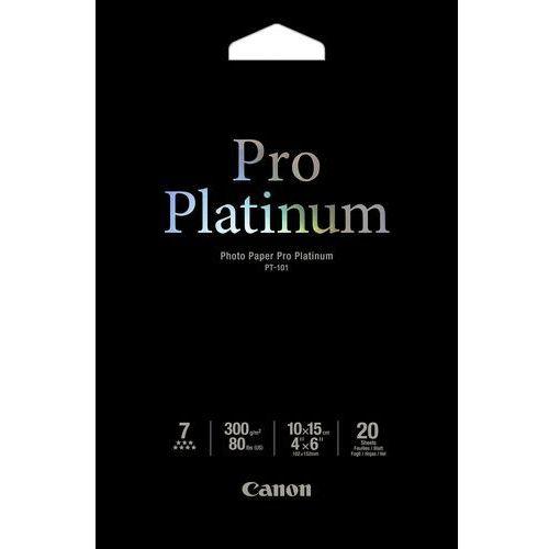 Canon pt-101 - pro platinum photo 10x15cm, 20 sheets papier fotograficzny (4960999575254)