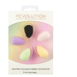 Makeup Revolution Mini Pro Colour Correct Sponge Set Zestaw mini gąbek do makijażu 1op.