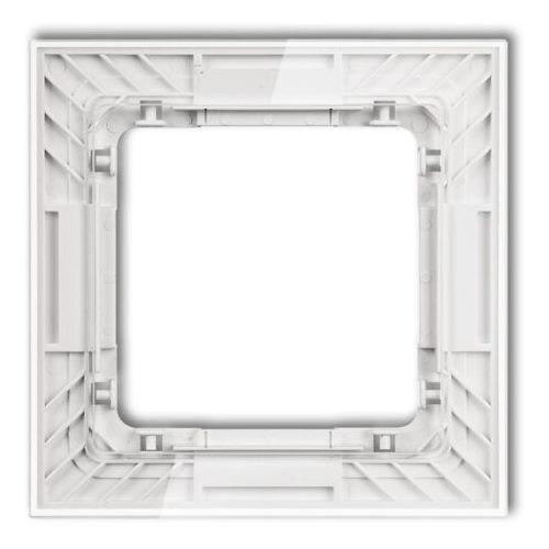 DECO Ramka uniwersalna pojedyncza transparentna DECO Art - efekt szkła (ramka: transparentna spód: biały) transparentny 52-0-DRS-1 (5901832004615)