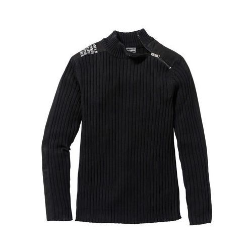 "Bonprix Sweter ""slim fit"" czarny"