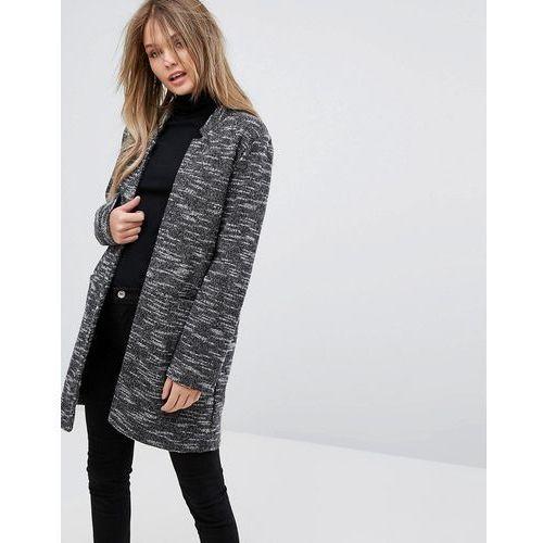 New look  brushed coat - grey