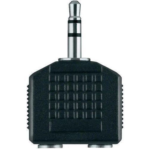 Adapter jack, Belkin, 1x wtyk 3,5 mm / 2x gniazdo 3,5 mm, czarny, F3Y123bf