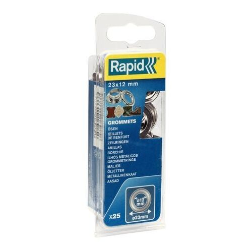 Przelotki Rapid śr. 12 x 23 mm z kowadełkiem 25 szt. (4051661013737)