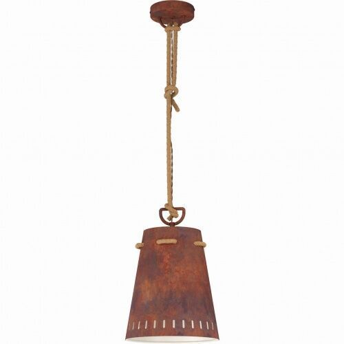 Eglo 43404 meopham oprawa wisząca stal kasztanowy lampa loft vintage