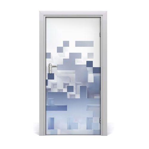 Naklejka samoprzylepna na drzwi Abstrakcja kostki