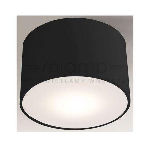 Shilo Sufitowa lampa plafon zama 1128/led/cz okrągła oprawa led 25w - 35w czarna